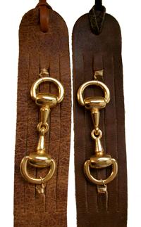 Horsebit belt.tan